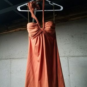 Orange halter top dress